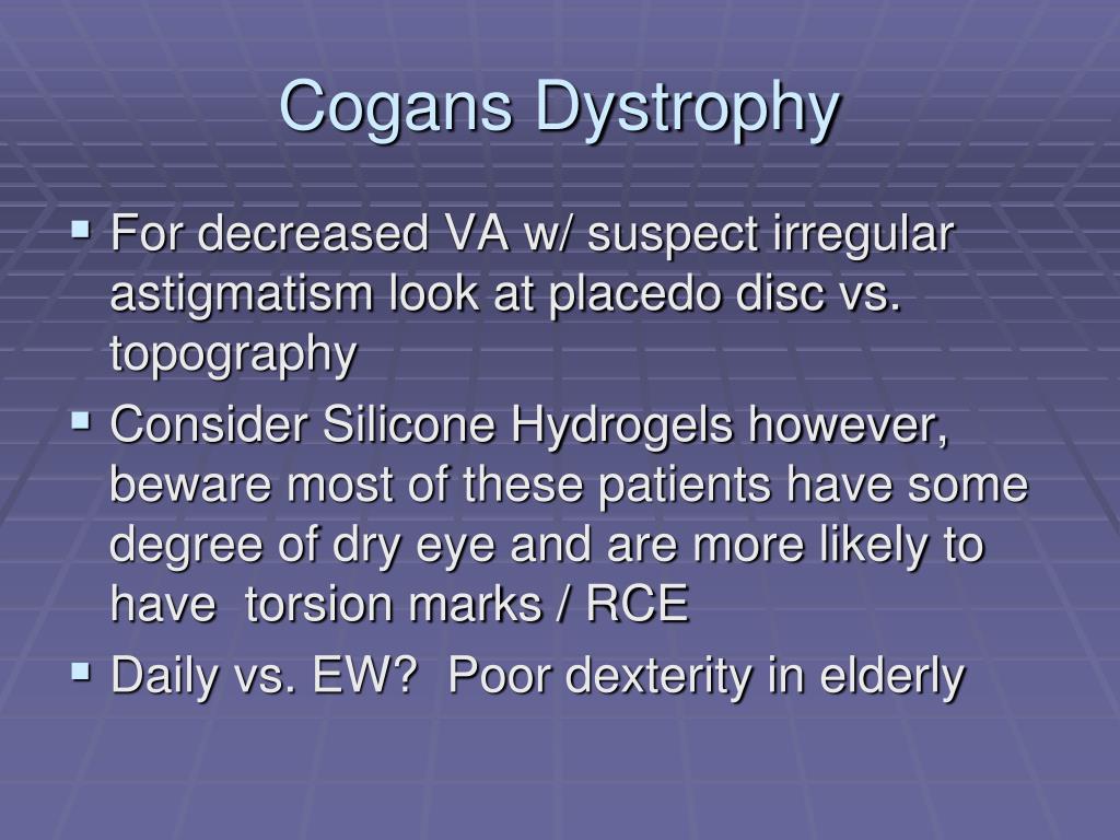 Cogans Dystrophy