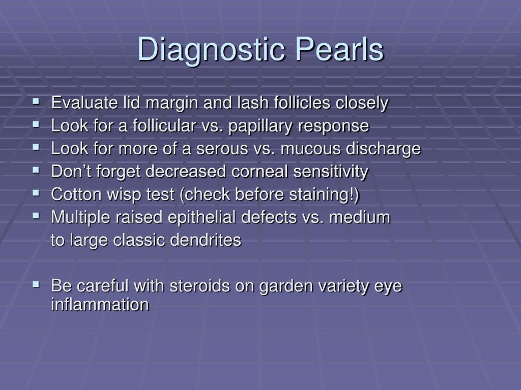 Diagnostic Pearls