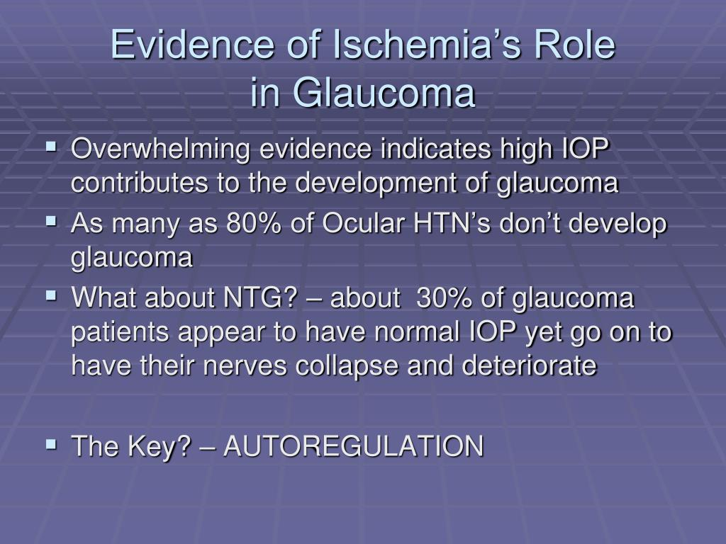 Evidence of Ischemia's Role