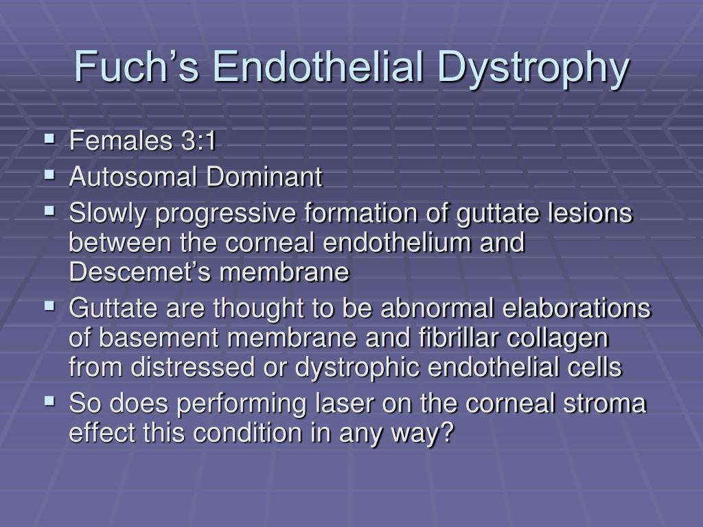 Fuch's Endothelial Dystrophy
