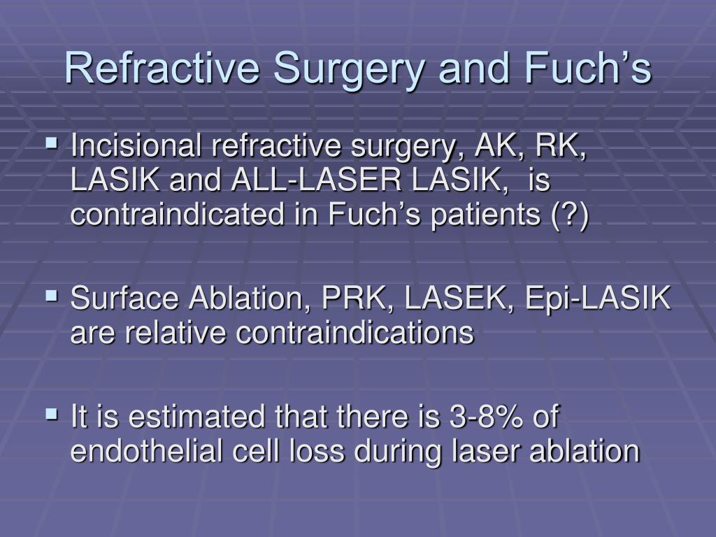 Refractive Surgery and Fuch's