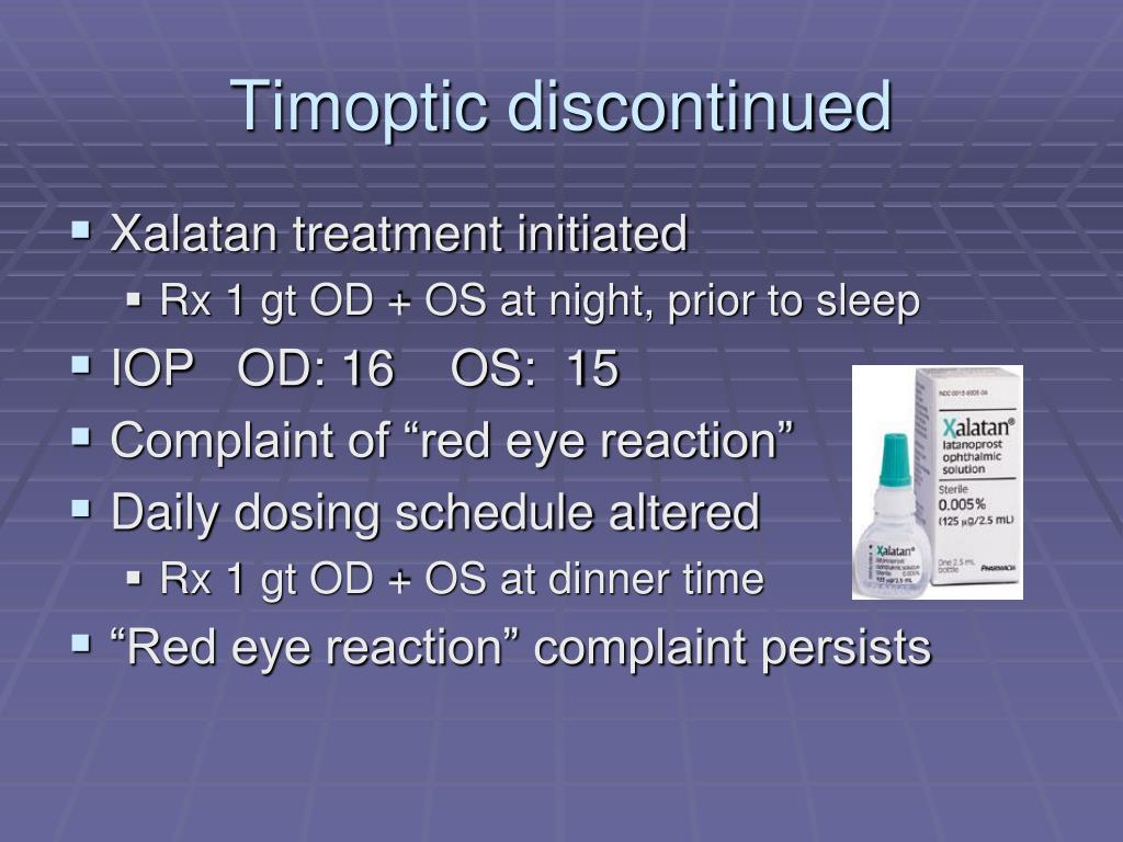 Timoptic discontinued