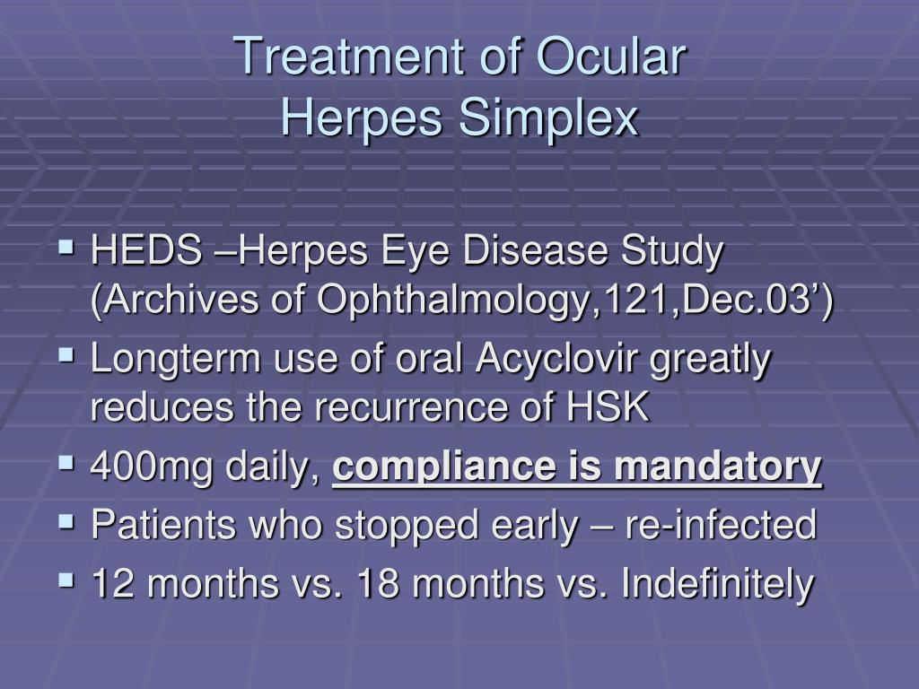 Treatment of Ocular