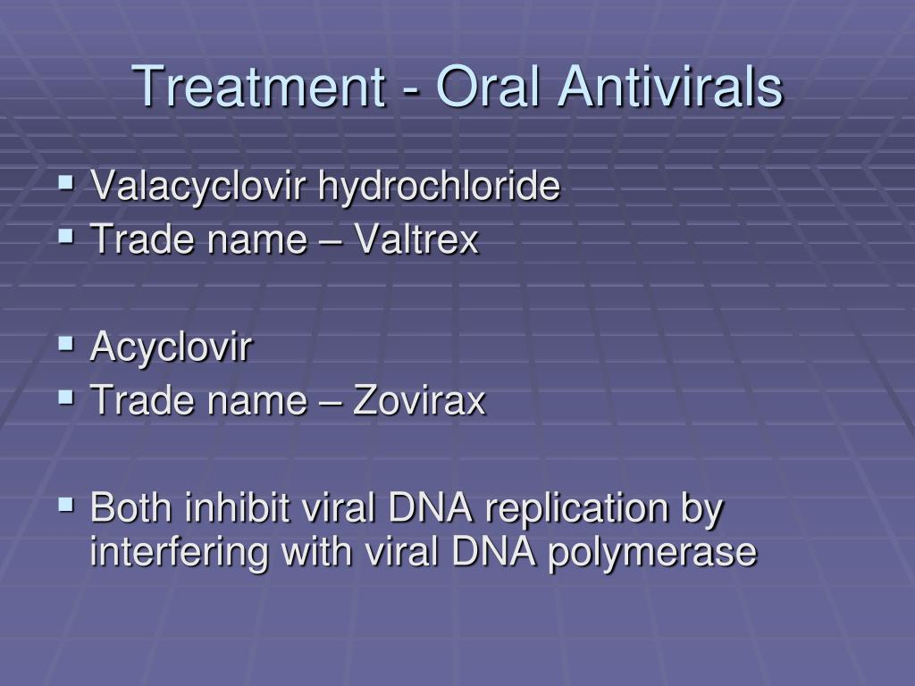 Treatment - Oral Antivirals