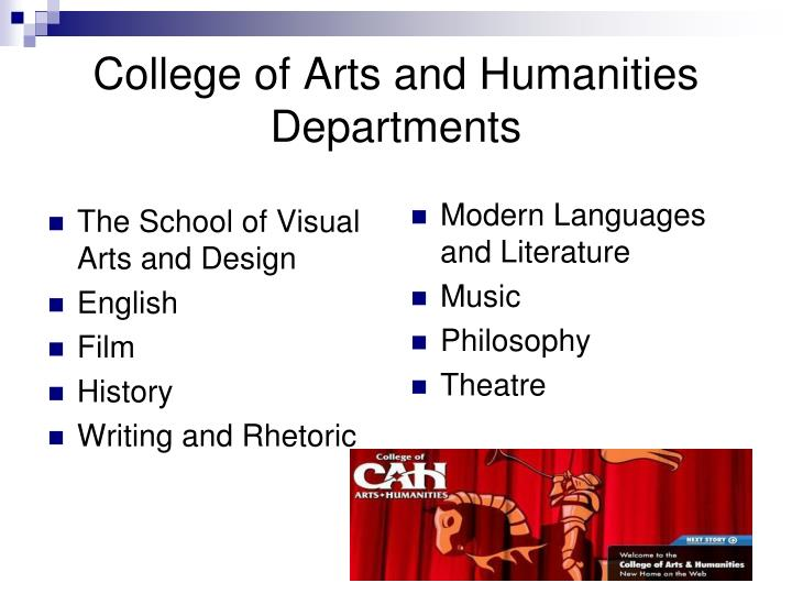 College of arts and humanities departments l.jpg