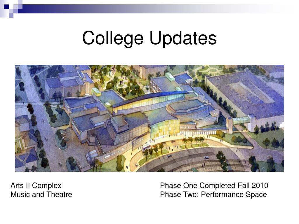 College Updates