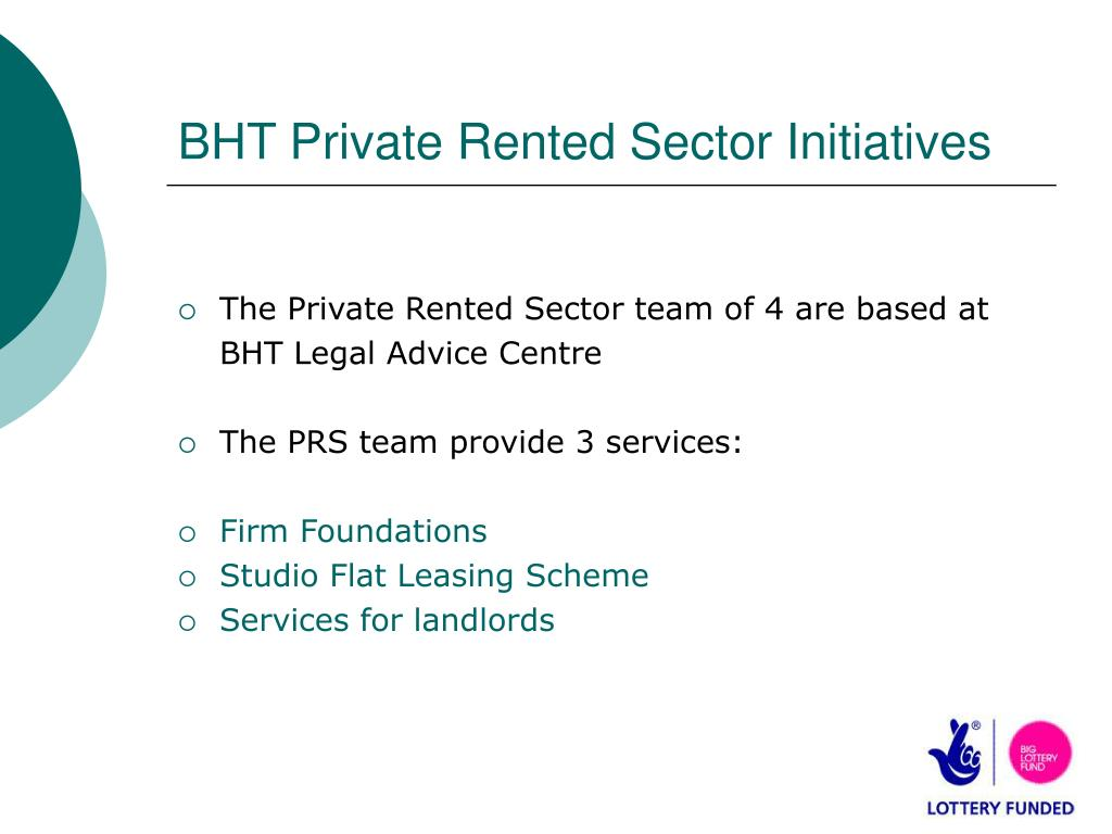 BHT Private Rented Sector Initiatives