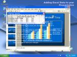 adding excel data to your presentation