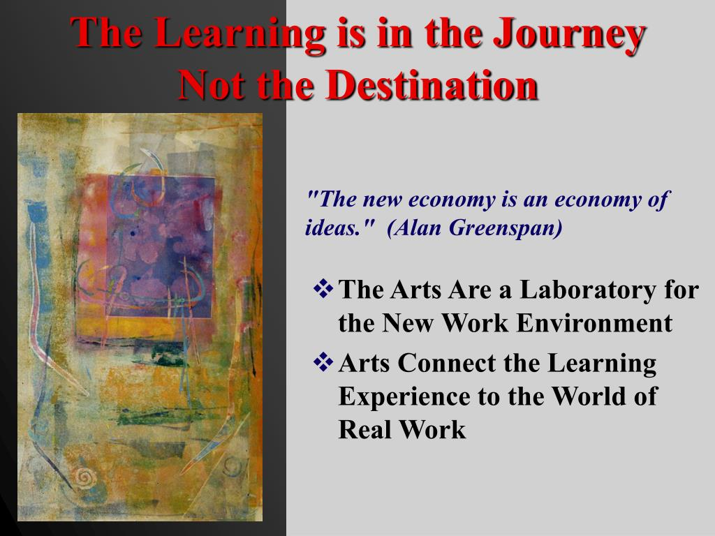 The Learning is in the Journey