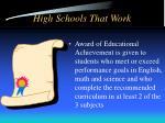 high schools that work17