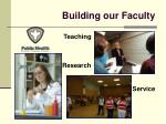building our faculty