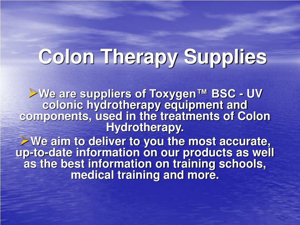Colon Therapy Supplies