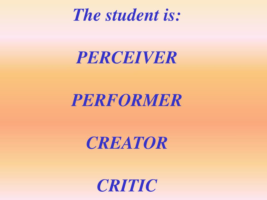 The student is: