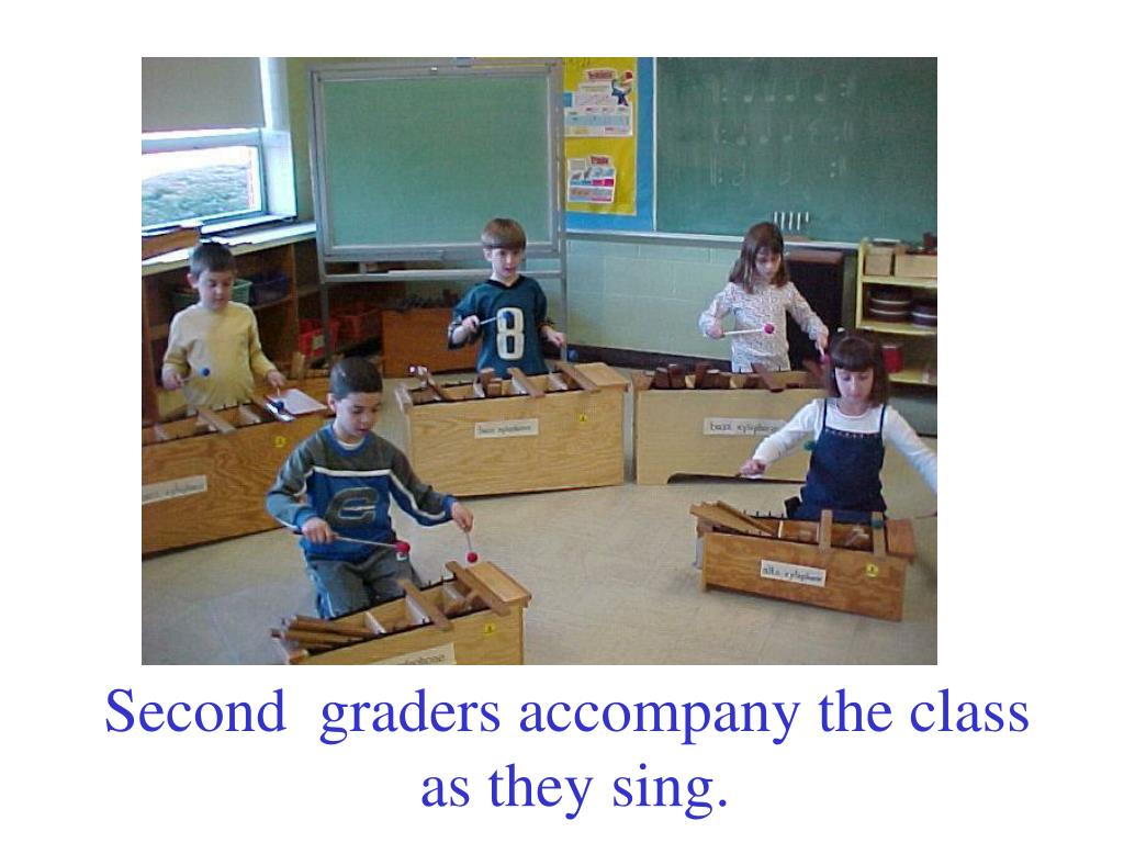 Second  graders accompany the class