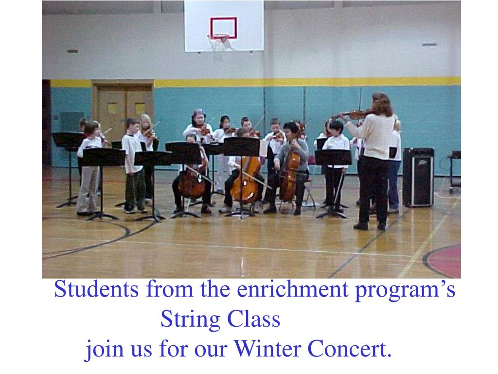 Students from the enrichment program's