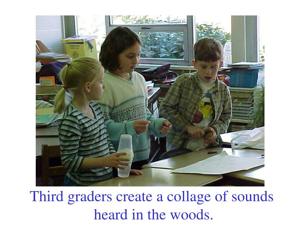 Third graders create a collage of sounds