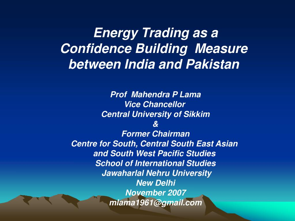 Energy Trading as a