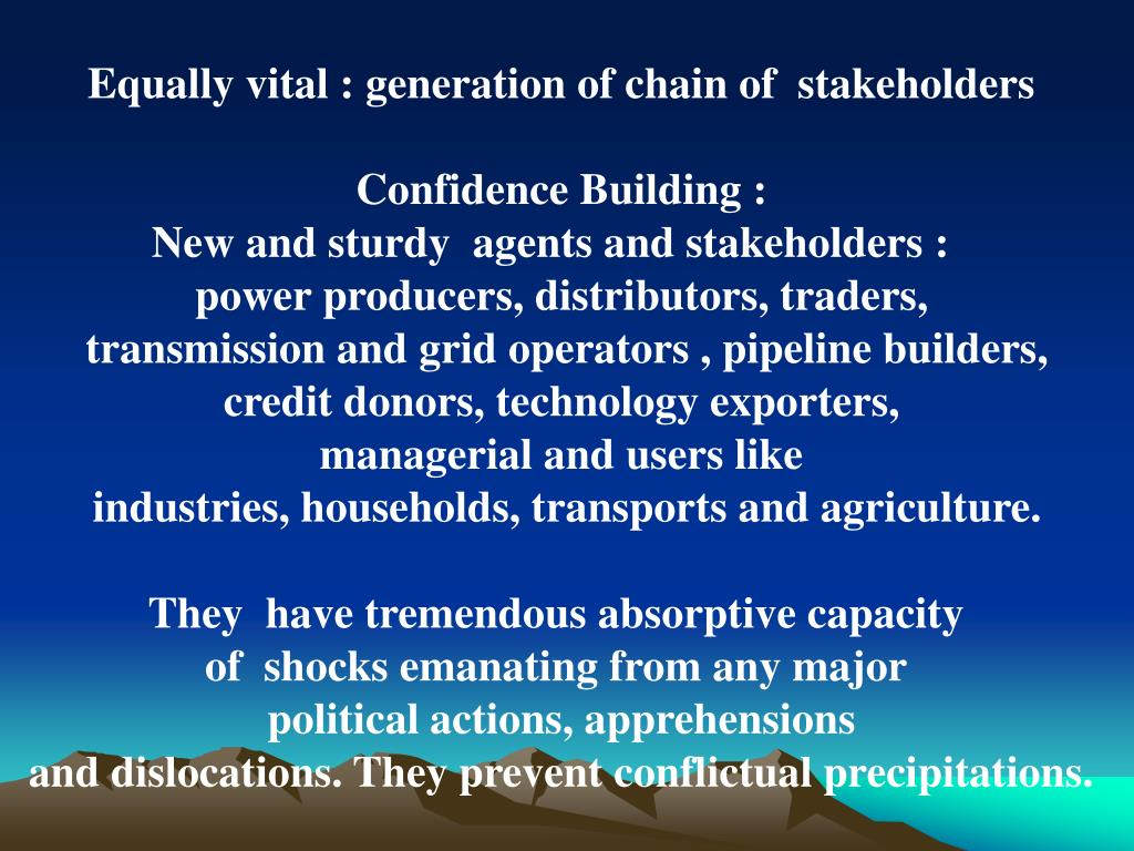 Equally vital : generation of chain of  stakeholders