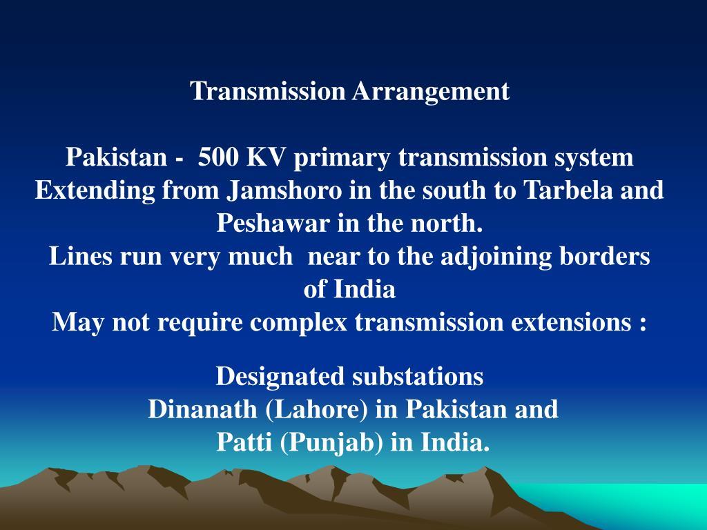 Transmission Arrangement