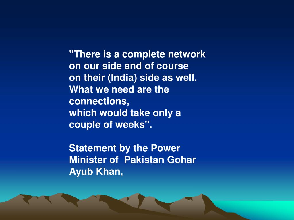 """There is a complete network on our side and of course"
