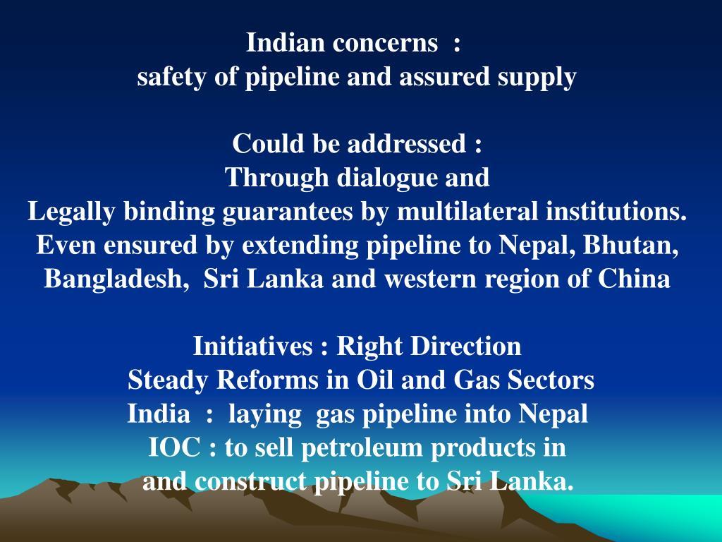 Indian concerns  :