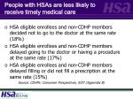 people with hsas are less likely to receive timely medical care7