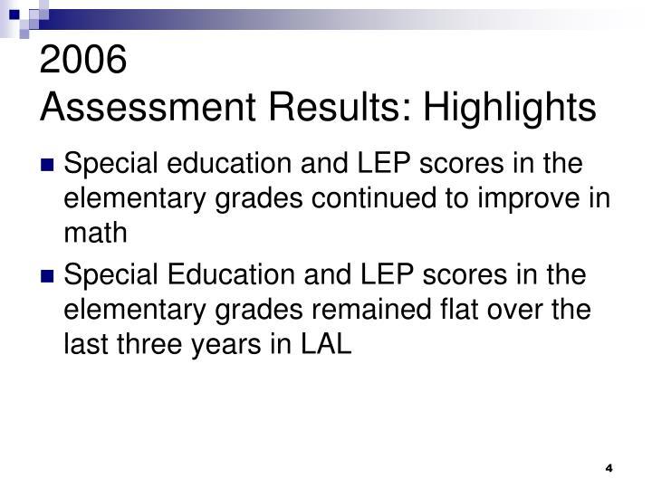 2006 adult program result
