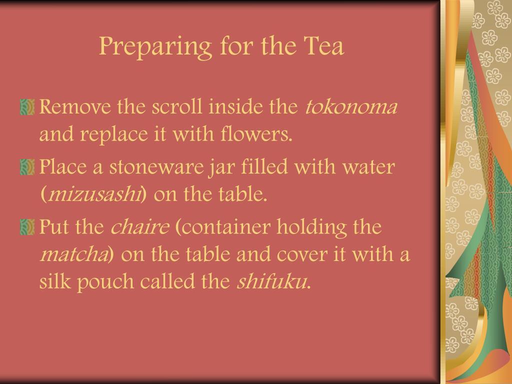 Preparing for the Tea