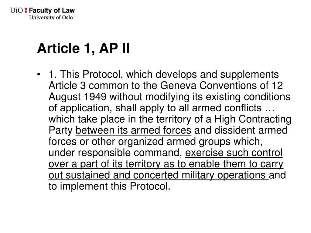 Article 1, AP II