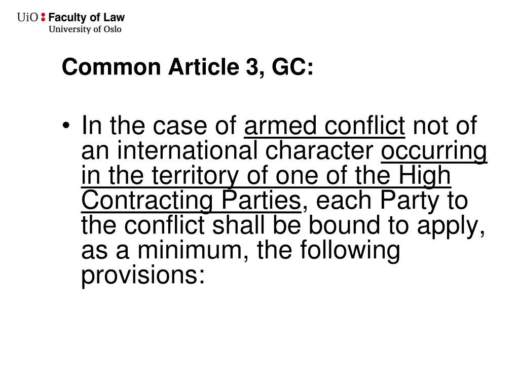 Common Article 3, GC: