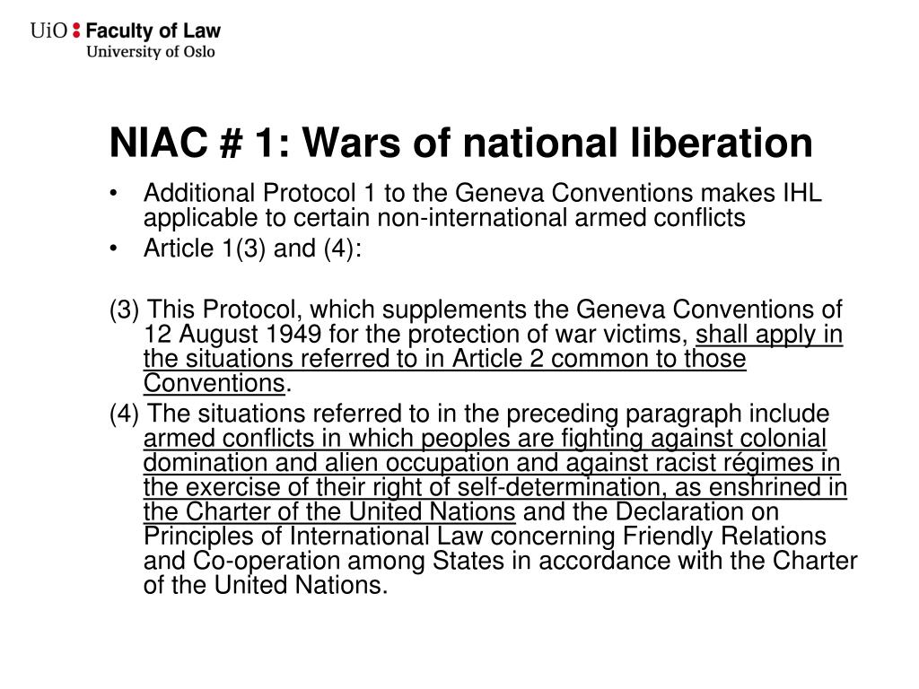 NIAC # 1: Wars of national liberation