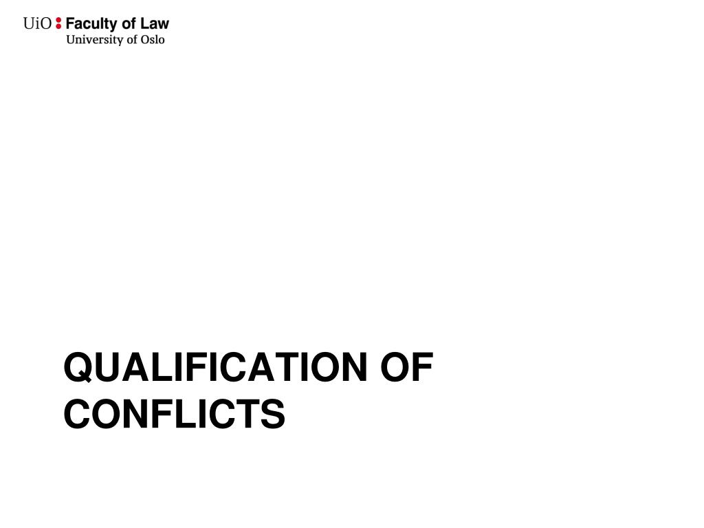 Qualification of conflicts