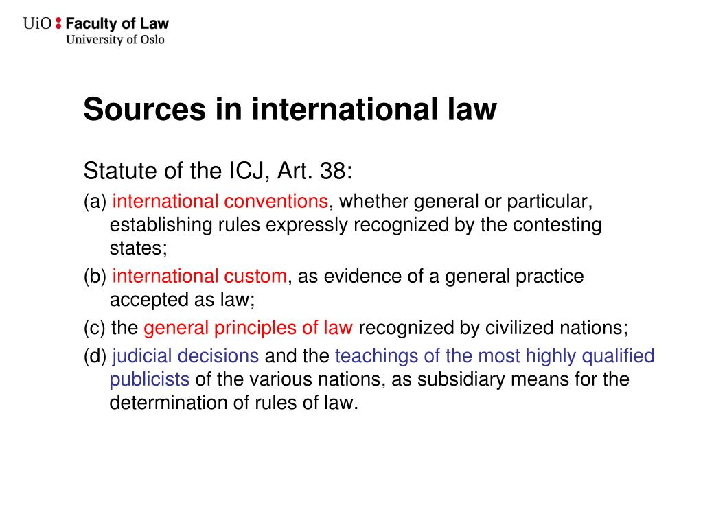 Sources in international law