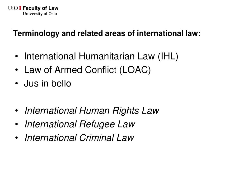 Terminology and related areas of international law: