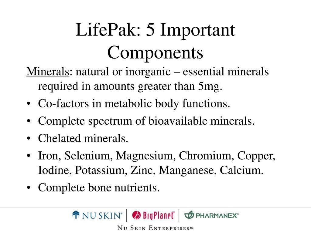 LifePak: 5 Important Components