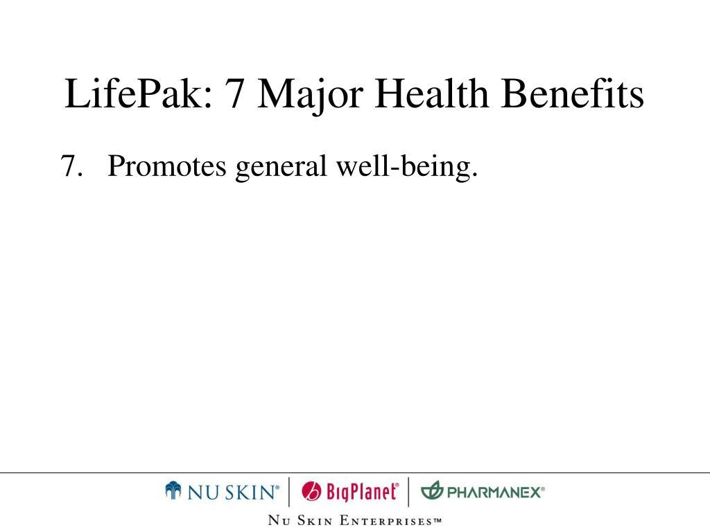 LifePak: 7 Major Health Benefits