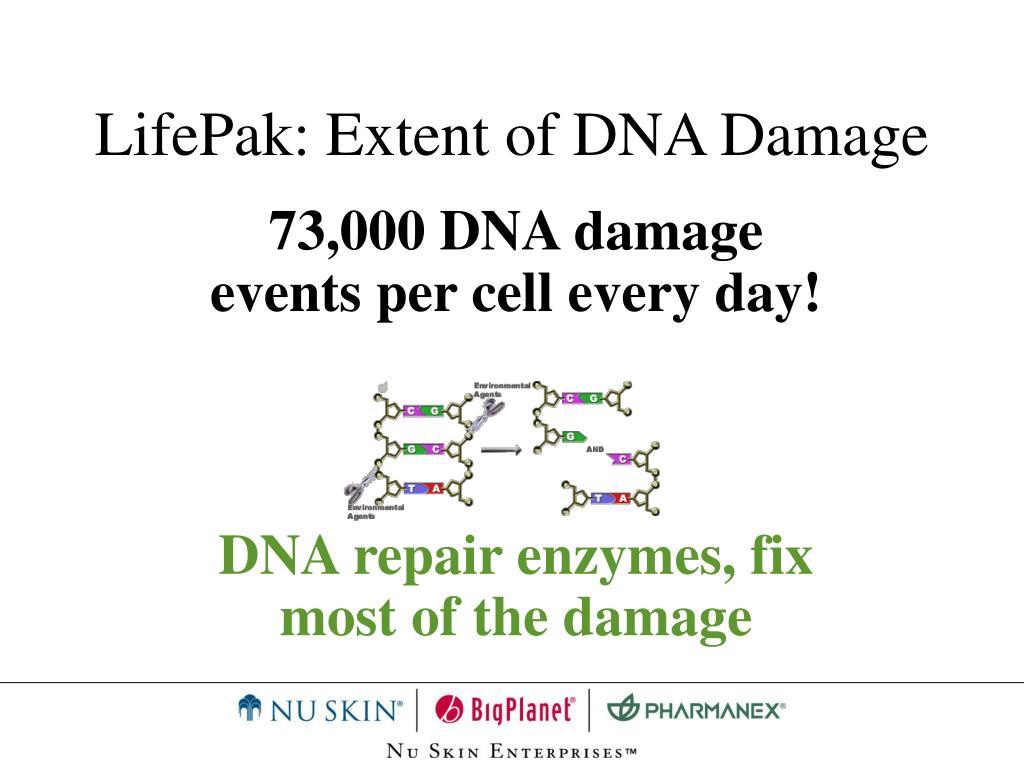 LifePak: Extent of DNA Damage