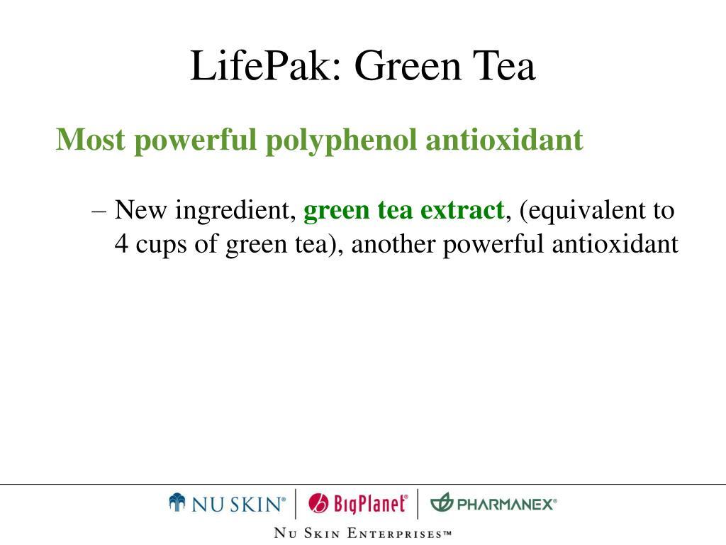 LifePak: Green Tea