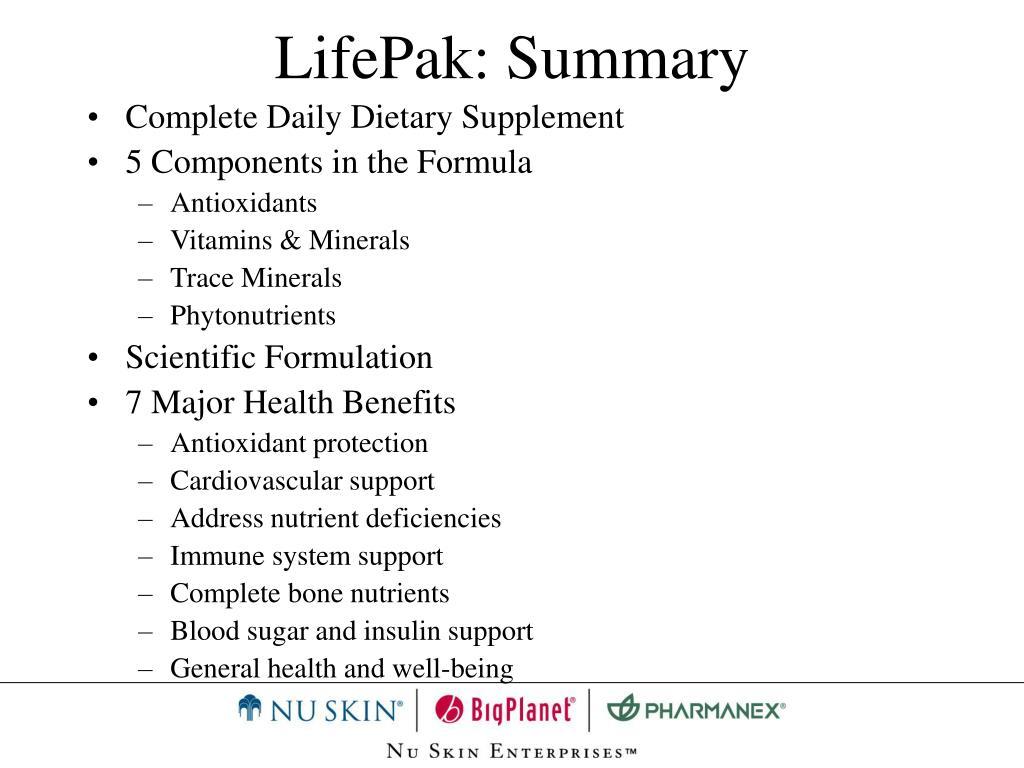 LifePak: Summary
