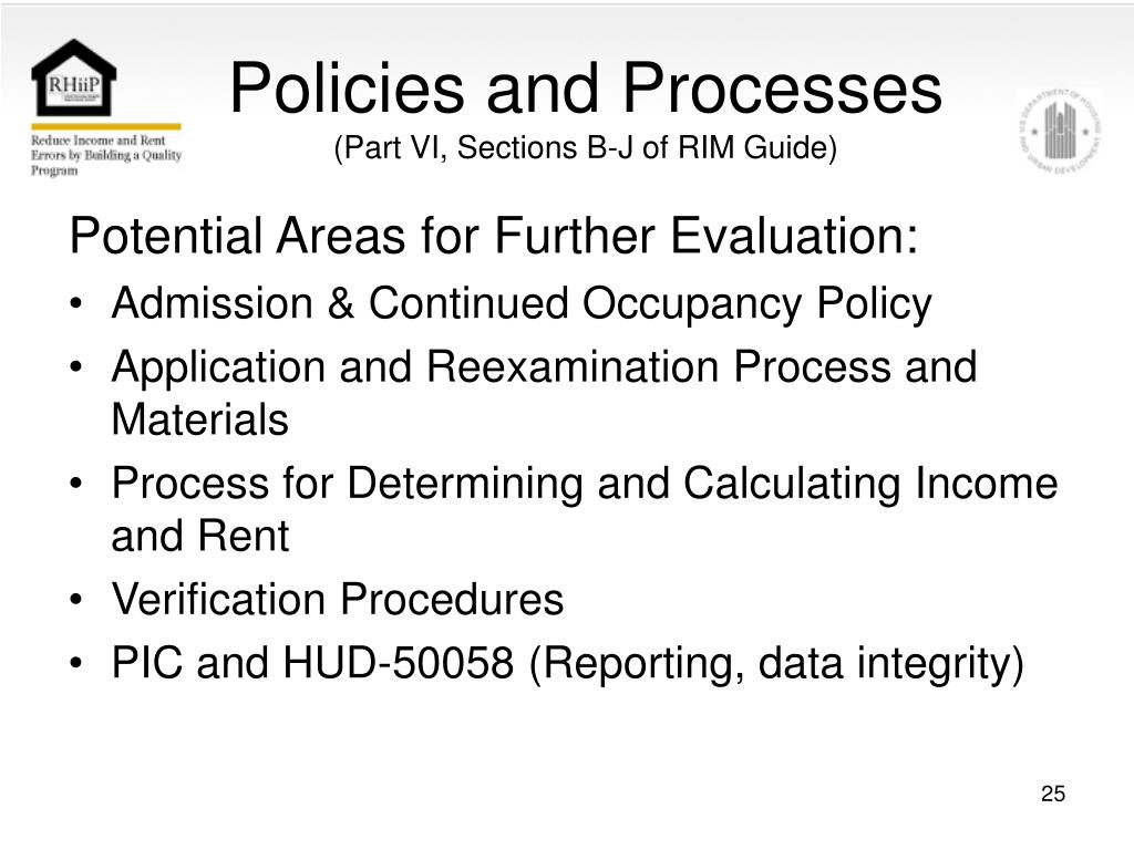 Policies and Processes