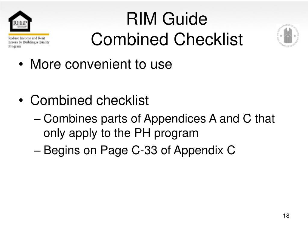 RIM Guide
