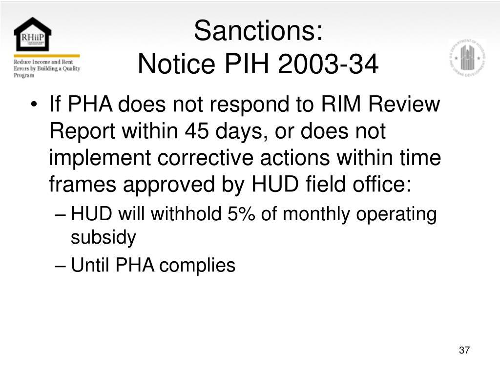 Sanctions: