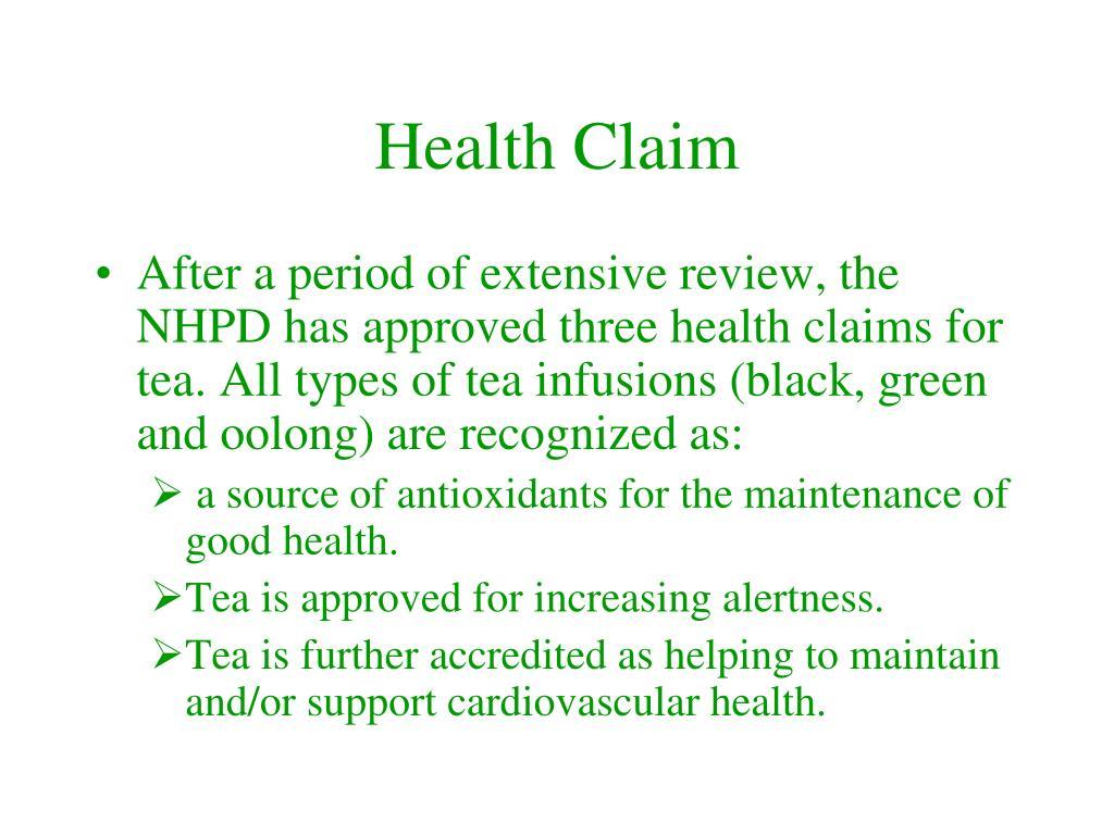 Health Claim
