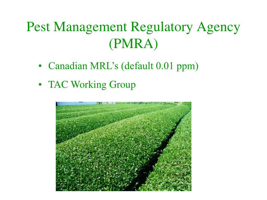 Pest Management Regulatory Agency (PMRA)