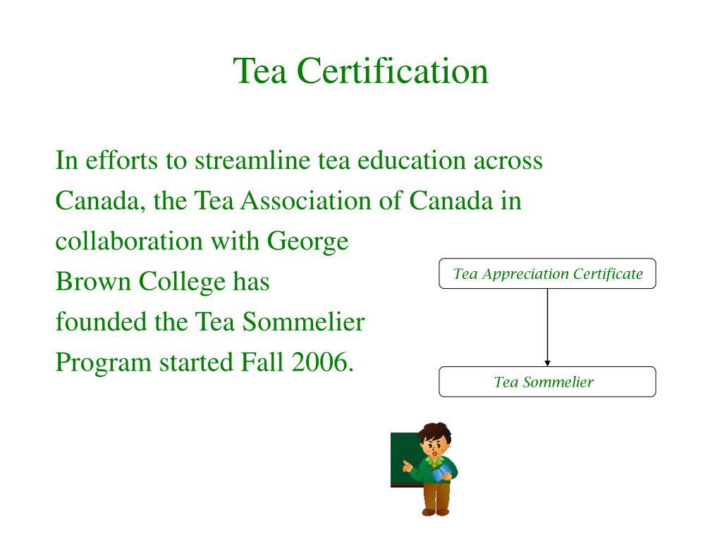 Tea Certification