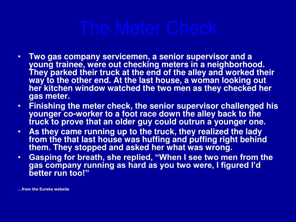 The Meter Check