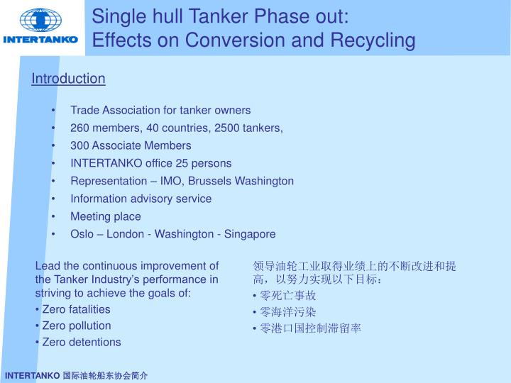 Single hull tanker phase out effects on conversion and recycling l.jpg