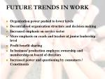 future trends in work