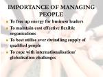 importance of managing people