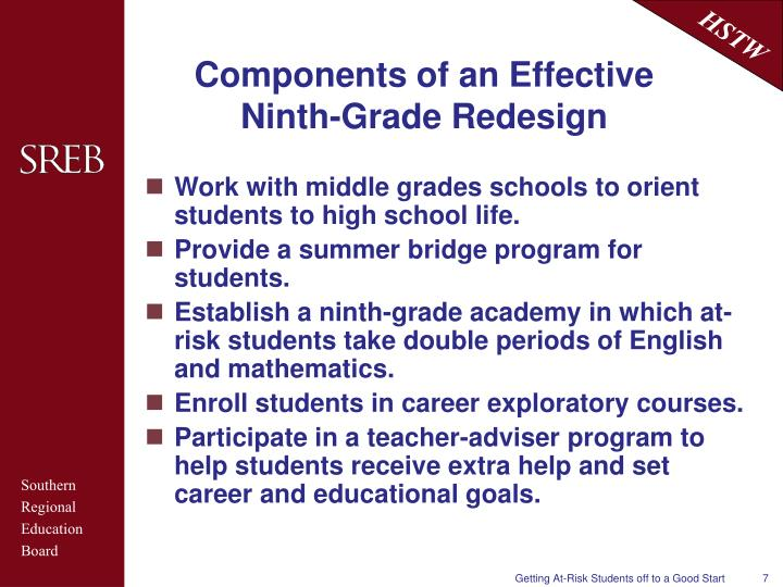 Components of an Effective Ninth-Grade Redesign